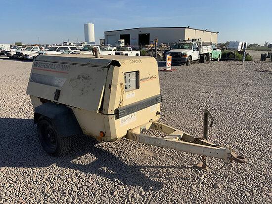 1999 Ingersoll Rand P185WJD Portable Air Compressor, trailer mtd Not Running, Condition Unknown, oil