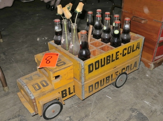 Double Cola Wooden Crate Truck Art Antiques Collectibles