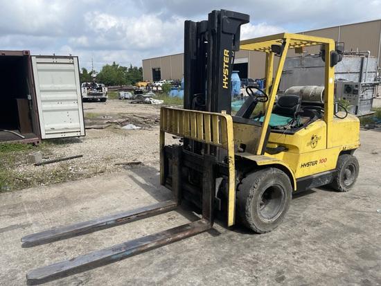 "Hyster H100xm Forklift; S/n K005v02364z; 10,000 Lb Capacity; 2-stage Mast; 110"" Lowered; 159"" Raised"