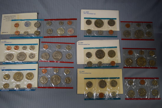 6 SETS OF UNCIRCULATED COINS!
