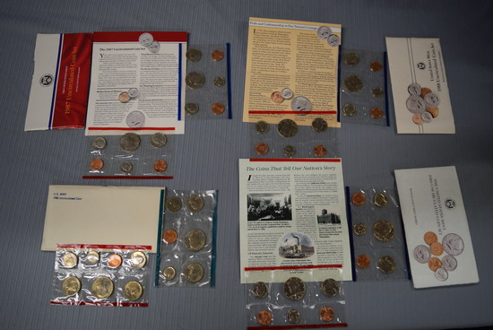 4 SETS OF UNCIRCULATED COINS!