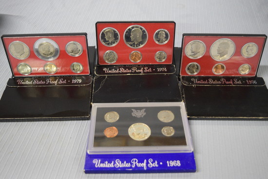 4 UNITED STATE PROOF SETS!