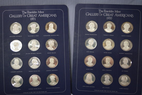 #5 FRANKLIN MINT GALLERY OF GREAT AMERICANS COINS!