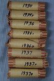 8 ROLLS OF 1900'S PENNIES!