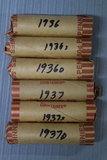 6 ROLLS OF 1936 & 1937 PENNIES!