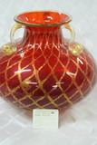 EXTREME RUBY RED MURRANO GLASS VASE!