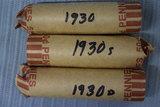 3 ROLLS OF 1930'S PENNIES!