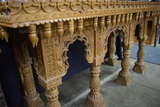 HEAVILY CARVED TABLE!