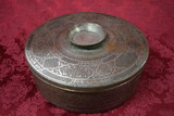 BEAUTIFUL HAMMERED COPPER/SILVER CONTAINER!