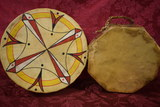 EXCEPTIONAL NATIVE AMERICAN ANIMAL HIDE DRUMS!