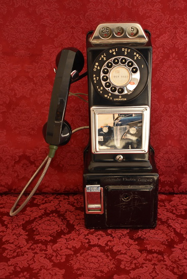 EXTREME VINTAGE PAY PHONE!