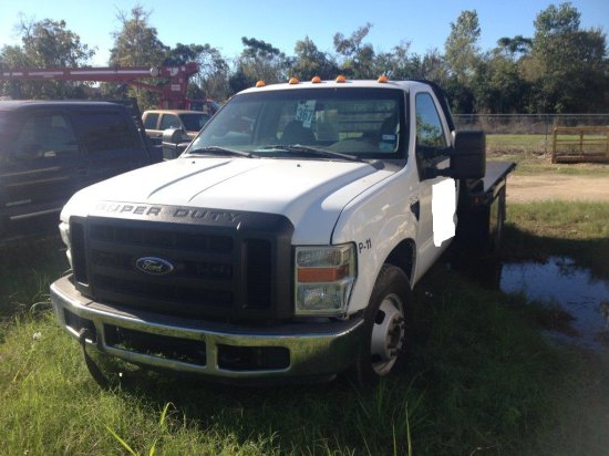 2008 FORD F450 SUPER DUTY FLATBED TRUCK