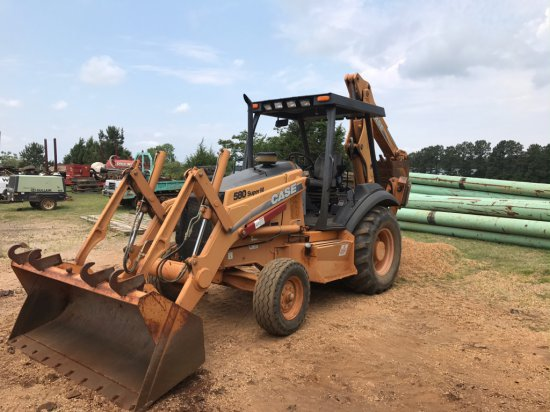 CASE 580SM LOADER BACKHOE SN JJG0288877