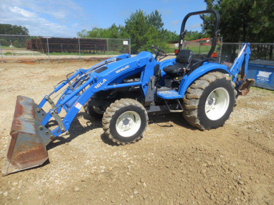NEW HOLLAND TC35 4X4 TRACTOR W/ LOADER & BACKHOE SN G511214
