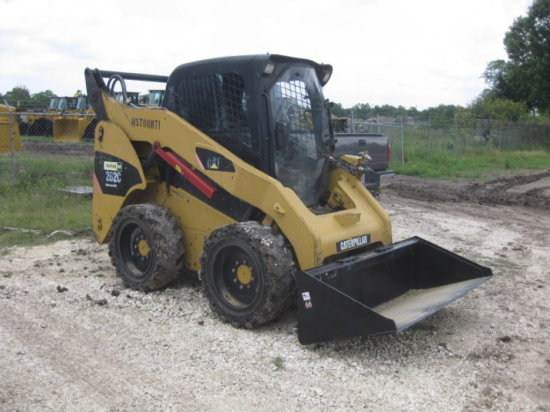 CAT 262C CAB/AIR SKID LOADER SN MST00871