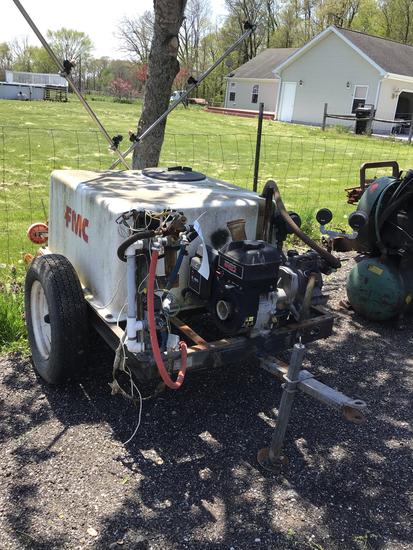 FMC Approximate 50 G. fiberglass trailer type sprayer w/8.5 Briggs Engine -  Rough