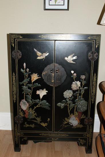 2' x 3' x 1' deep 2 door  1 shelf oriental cabinet