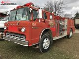 1980 FORD 8000 FIRE TRUCK, 3208 CAT DIESEL ENGINE, AUTO TRANS, AIR BRAKES, 63,373 MILES SHOWING, VIN