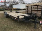 2016 MMT TANDEM AXLE TRAILER, 22' DECK WITH 2' BEAVERTAIL, STAND UP RAMPS, ELECTRIC BRAKES, 2-5/16''