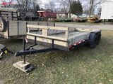 1995 JERRY TRAILER, TANDEM AXLE, 78'' X 16', NEW TIRES, NEWER DECK, 10'' WOOD SIDE, 2-5/16'' BALL, G