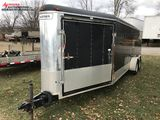2000 HAULMARK TANDEM AXLE V-NOSE 3-PLACE SNOWMOBILE ENCLOSED TRAILER, RAMP DOOR, 2-5/16 BALL, NEW BR