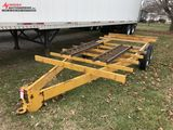 ASSEMBLED TANDEM AXLE TRAILER, NO LIGHTS, NO CHAINS, NO DECK, SELLS WITH WEIGHT SLIP 1500 LBS