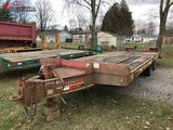 2003 INTERSTATE 10-TON TANDEM AXLE EQUIPMENT TRAILER, 20,000#,  19' BED WITH 5' BEAVERTAIL (24' OVER
