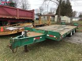 1989 EAGER BEAVER TANDEM AXLE EQUIPMENT TRAILER, PINTLE HITCH, ELECTRIC BRAKES, 17' DECK WITH 5' BEA