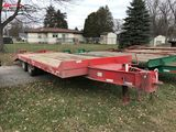 2018 TALBERT AC20 TANDEM AXLE EQUIPMENT TRAILER, 8' X 19' WITH 5' BEAVERTAIL, FOLD DOWN RAMPS, 20-TO