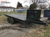 ASSEMBLED TANDEM AXLE TRAILER, 16-1/2' WOOD DECK, 2-5/16'' HITCH, SELLS WITH WEIGHT SLIP, 2200 LBS