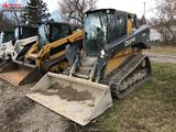 JOHN DEERE 3331G RUBBER TRACK  SKID STEER, 2017, CAB WITH HEAT, AUX. HYDRAULICS, 82'' BUCKET, 894 HO