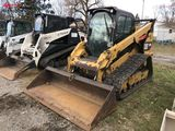 CATERPILLAR 299D RUBBER TRACK SKID STEER, 2014, CAB WITH HEAT & A/C, AUX HYDRAULICS, HYDRAULIC COUPL
