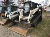 TEREX PT-110 RUBBER TRACK SKID STEER, AUX. HYDRAULICS, POSI TRACK, 72'' BUCKET, CAB WITH HEAT, FORES