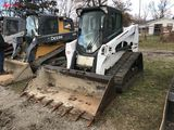 BOBCAT T630 RUBBER TRACK SKID STEER, 2015, CAB WITH HEAT, AUX HYDRAULICS, 78'' BUCKET WITH TEETH, 31