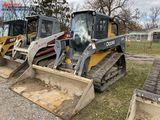JOHN DEERE 333E RUBBER TRACK SKID STEER, 2016, CAB WITH HEAT, AUX. HYDRAULICS, 82'' BUCKET, 1091 HOU