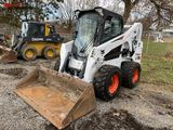 BOBCAT S650 RUBBER TIRE SKID STEER, 2017, 72'' BUCKET, 2-SPEED, CAB WITH HEAT, AUX. HYDRAULICS, 12-1
