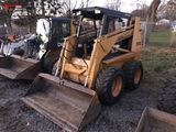 CASE 184C RUBBER TIRE SKID STEER, AUX. HYDRAULICS, DIESEL, 12-16.5 TIRES, OROPS, 6205 HOURS SHOWING,