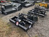 NEW WOLVERINE HYDRAULIC AUGER ATTACHMENT WITH [1] 18'' BIT AND [1] 12'' BIT