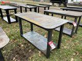 HEAVY DUTY WELDING TABLE WITH SHELF, 30'' X 57''