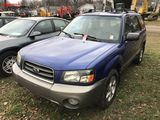 2003 SUBARU FORESTER 4-DOOR AWD SUV, 2.5L GAS ENGINE, 5-SPEED TRANS, CLOTH, AM/FM-CD-CASS, PW, PL, P