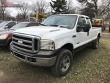 2007 FORD F250 SUPER DUTY EXTENDED CAB PICKUP, 6.0L V8 DIESEL, 4X4, CLOTH, AM/FM-CD, ASSORTED RUST,