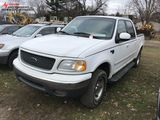 2001 FORD F150 CREW CAB PICKUP, 4X4 5.4L V8 GAS ENGINE, LEATHER, AM/FM-CD, BED LINER, NEW BRAKES AT