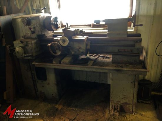 CLAUSING, MODEL 6903, LATHE WITH A 8'' DIAMETER 3-JAW CHUCK, APPROX. 48'' TABLE WITH 14'' SWING, CHI