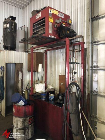 CLEAN BURN, MODEL CB1400, WASTE OIL BURNER (140,000 BTU/HR), WITH APPROX. 1/3 HP-120V FAN MOTOR, 120