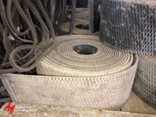 ASSORTED BELT MATERIAL FOR JOHN DEERE ROUND BALERS.
