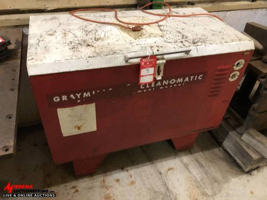 GRAYMILLS CLEAN-O-MATIC PARTS WASHER, MODEL 500-A, 115 VOLT