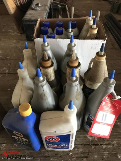 ASSORTED OIL GEAR OIL & BRAKE CLEANER