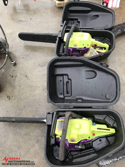 POULAN WILD THING CHAINSAW WITH CASE, ALSO INCLUDES 1 CHAINSAW FOR PARTS