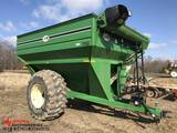 J & M 750-16 GRAIN CART WITH AUGER, 30.5L32 TIRES, DISKEY JON MONITOR ON PLANTER
