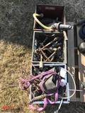 3 BASKETS OF PARTS INCLUDING FITTINGS, SPRAYER PARTS, ETC.